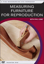 Measuring Furniture for Reproduction -DVD