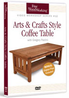 Furniture maker Gregory Paolini provides a detailed overview of how to build this traditional piece in Fine Woodworking's Arts & Crafts Style Coffee Table