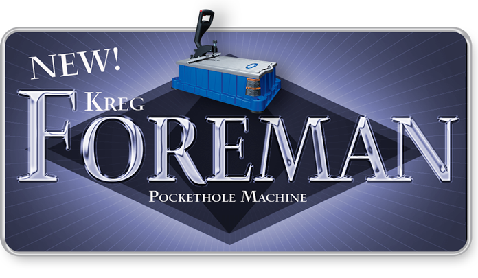 New Kreg Foreman Pockethole Machine