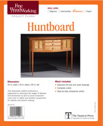 Fine Woodworking  Huntboard Project Plan