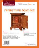 Fine Woodworking  Pennsylvania Spice Box Project Plan