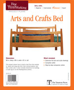 Fine Woodworking  Arts and Crafts Bed Project Plan