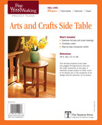 Arts and Crafts Side Table Project Plan