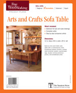 Fine Woodworking Arts and Crafts Side Table Project Plan