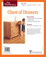 Fine Woodworking Chest of Drawers Project Plan