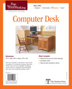 Fine Woodworking Computer DeskProject Plan