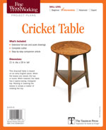 Fine Woodworking Cricket Table Project Plan