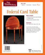 Fine Woodworking Federal Card Table Project Plan