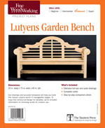 Fine Woodworking Garden Bench Project Plan