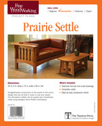 Fine Woodworking Prairie Settle Project Plan