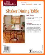 Fine Woodworking Sharker Dining Table Project Plan