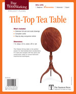 Fine Woodworking Tilt-Top Tea Table Project Plan