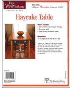 Build a Hayrake Table