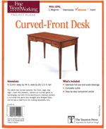 Curved Front Desk Plan