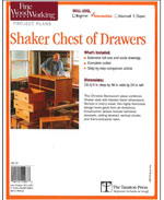 Shaker Chest of Drawers Plan