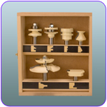6 Pc Cabinet Makers Set (3 wing rasied panel bit)