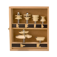 6 Piece Cabinet Makers Set (3 wing rasied panel bit)
