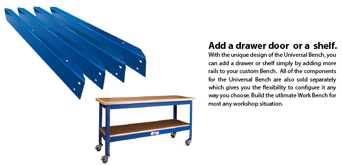 Kreg Universal Bench Package single rails