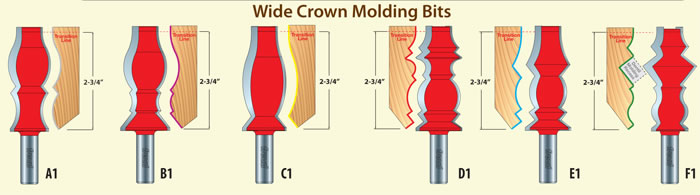 Freud Wide Crown Molding Bits